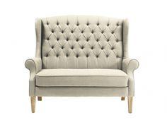 2-Sitzer-Sofa Stoff Barock Genievre - Beige