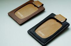 . Material - Genuin Leather, metal, film . Size - W7.8 x H10.5 cm (3 x 4.13 inch) . Made in Korea