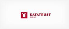 Erscheinungsbild für Datatrust, ein auf Sichern und Archivieren von elektronischen Daten spezialisiertes, Schweizer Software- und Dienstleistungsunternehmen.