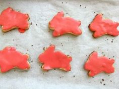 Coconut-Almond Easter Bunny Sugar Cookies with Pink Coconut Icing #recipes
