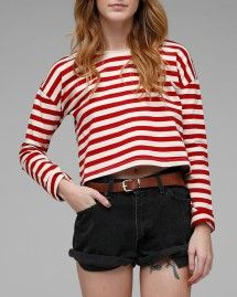 Red/White striped top from Need Supply Co.  $29.99