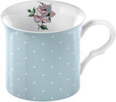 Katie Alice Bird Song Blue Spot Palace Mug