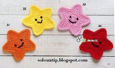 Crochet Stars (Karla's Making It) Tags: motif crafts crochet applique freepattern freecrochetpattern