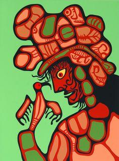 Norval Morrisseau Art and Artwork For Sale by Pegasus Gallery of Canadian Art ~ Salt Spring Art Galleries South American Art, Native American Art, Contemporary Art Artists, Woodland Art, Spring Art, Indigenous Art, Classical Art, Canadian Artists, Aboriginal Art