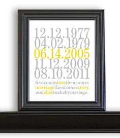 Subway Art Custom Dates  8x10  Love and Marriage  by nelladesigns,