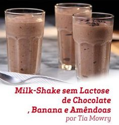 Tia Mowry Banana Chocolate Almond Milk-less Milkshake : Recipes : Cooking Channel Chocolate Milkshake, Chocolate Shake, Milk Shakes, Yummy Drinks, Healthy Drinks, Healthy Eating, Healthy Milk, Food Network Recipes, Food Processor Recipes