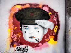 """Street Art At Hanover Quay - """"You Are Much Too Young To Smoke"""""""