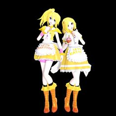 FNAF Toy Chica and Chica MMD styled.