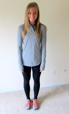 Cute workout outfit. I really just want that top from Old Navy.