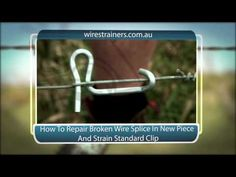 How To Repair Broken Wire Splice New Piece and Re-Strain Standard Clip Fencing Tools, Bamboo Structure, Farm Tools, Concrete Steps, Farm Fence, Home Defense, Homemade Tools, Iron Work, Woodworking Workshop