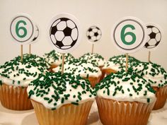 snapshots from a soccer birthday party - rachel swartley Soccer Birthday Parties, Football Birthday, Sports Birthday, Soccer Party, 8th Birthday, Kids Soccer, Kid Parties, Birthday Ideas, Soccer Cupcakes