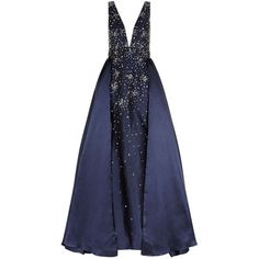 Jovani Sequin Embellished Ball Gown ($1,665) ❤ liked on Polyvore featuring dresses, gowns, blue sequin gown, formal dresses, tulle gown, sequin formal dress and formal evening gowns
