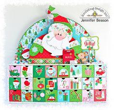 Doodlebug Design Inc Blog: Here Comes Santa Claus: Advent Calendar by Jennifer Beason