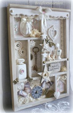 Ideas Shabby Chic Crafts Projects Inspiration For 2019 Shabby Chic Crafts, Shabby Chic Kitchen, Altered Boxes, Altered Art, Decoration Shabby, Shadow Box Art, Diy Décoration, Craft Box, Home And Deco