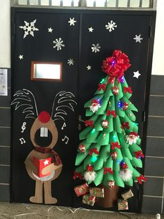 colegio san jos office christmas decorations christmas art christmas - Pinterest Christmas Door Decorations