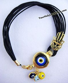 PROTECTION BRACELET + KABBALAH HAND + EVIL EYE PENDANTS. The evil eye story : It is tradition of the past history of the turkish, jewish people believed that if you use this evil eye you will stay away from danger or bad eye and be protected against bad luck and that it brings good luck. It is great gift for someone you love to stay away from danger.