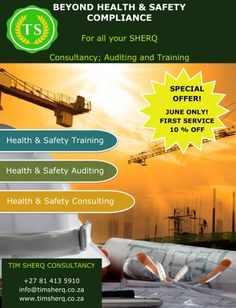 For all your SHERQ Consultancy; Auditing and Training #Tim SHERQ Consultancy# Safety Training, Health And Safety