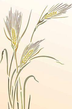 Graceful one sheet grass stencil 1 sheet stencil The elegant Large Wild Rye Gras. Stencil Patterns, Hand Embroidery Patterns, Stencil Designs, Stencils, Stencil Art, Rye Grass, Wild Grass, Fabric Painting, Botanical Illustration
