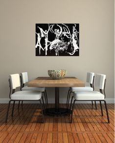 Have This Dance, Acrylic on Canvas, Chelsea Klamm 2018 Chelsea, Abstract Art, Dining Table, Dance, Canvas, Wall, Painting, Furniture, Home Decor