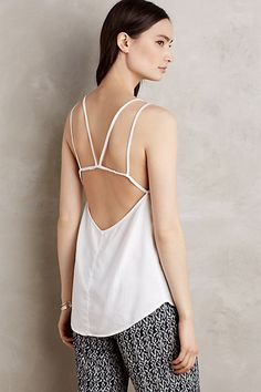 (Navy or gray) Double-Strap Cami #anthropologie