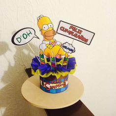 Centro de mesa The Simpson's terminado por #ViCani_Design