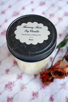 Rose Soy Wax Candle in 8 oz Jelly Jar by HarmonyFarmCandles  #IBCOMFEDGPPE