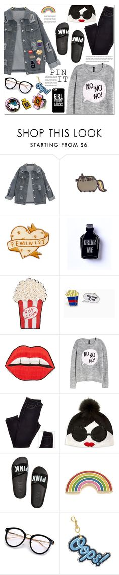 """PIN IT"" by pankh ❤ liked on Polyvore featuring Happy Embellishments, H&M, Alice + Olivia, Victoria's Secret, Georgia Perry and Anya Hindmarch"
