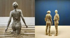 Italian artist Peter Demetz has a gift for breathing life into wood. His realistic wood sculptures of people are flawlessly life-like.  Wood carving statues. For more interesting posts visit https://trending.fropky.com