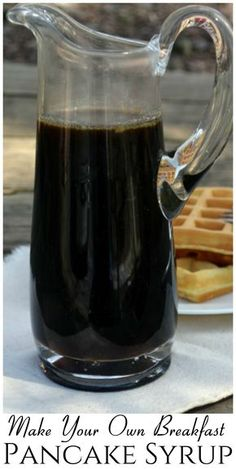 Homemade Pancake Syrup, Homemade Maple Syrup, Maple Syrup Recipes, Homemade Pancakes, Homemade Breakfast, Homemade Sauce, Breakfast Recipes, Pancake Recipes, Breakfast Healthy