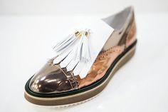 """Design Trendsetter 2015"" contest: Mario Pini metallic shoe, S/S 2016 collection #mariopini #shoes #designtrendsetter2015"