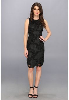 Vince Camuto Floral Cutout Faux Leather Lace Dress on shopstyle.com