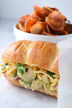Moroccan Chicken Salad Sandwich