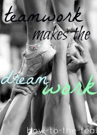 Team work is the most important thing about cheerleading.