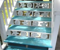Decorative Brackets with a Coastal Theme by Island Creek Designs ~~~~~~~~~~~~~~~~~~~~~~~~~~~~~~~~~~~~~~ I definitely cannot afford these but I like the idea of putting cute designs there. I hadn't thought about it before but it looks really nice