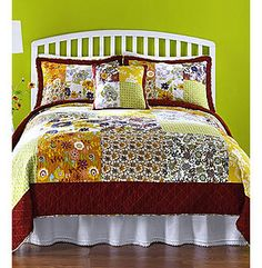 """""""For a bedroom that's anything but boring, choose the Kacie quilt."""" lol"""
