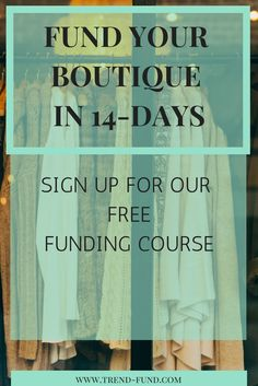 The fashion and retail business is a billionaire dollar industry. It's time to get your slice of the pie!  With our FREE 14-day email course, you'll be able to cover rent for your space, buy inventory and hire sales superstars!