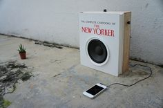 Audio Book speaker by Foreign Policy: A real time fusion of a book and audio device!