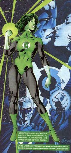 Jade as a Green Lantern