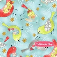 Believe You Can Blue Birds All Over Yardage <br/>SKU