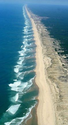 Landes. France - Atlantic Ocean