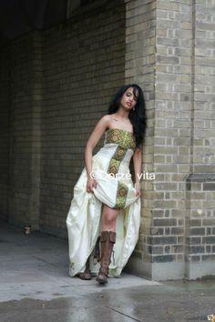 dress by Dorze' Vita Beautiful Ethiopian Women, Ethiopian Beauty, Beautiful Black Women, Ethiopian Wedding Dress, Ethiopian Dress, Ethiopian Traditional Dress, Traditional Dresses, African Wear, African Fashion