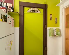 Paint colors that match this Apartment Therapy photo: SW 6370 Saucy Gold, SW 6706 Offbeat Green, SW 2923 Bramble Bush, SW 6142 Macadamia, SW 6915 Citronella