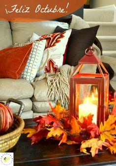 ¡Feliz Octubre!  ¿Qué os parece este diseño interiorista de otoño? ¡A nosotros…