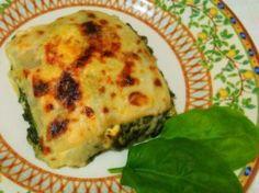 lasaña de espinacas a los tres quesos