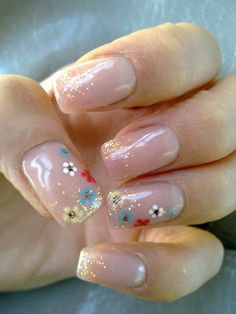 Simple with a touch of floral #nails