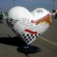 ♡ Your Heart is Mine, Valentine ♡ Heart in San Francisco sculpture