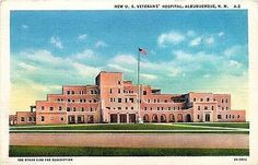My Grandma worked here.   Albuquerque New Mexico NM 1932 New Veterans' Hospital Antique Vintage Postcard