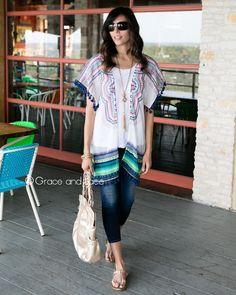 Grace and Lace - (**new item**) Santorini Kimono, $38.00 (http://www.graceandlace.com/all/new-item-santorini-kimono/)