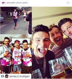 James Hughes Mulligan, Rob Langan & Matt Williams at the finish line of the #surreyhalf! http://www.instagram.com/p/BC5mpcyA6ZA