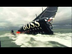 Alex Thomson does The Keel Walk on the Hugo Boss Boat. We haven't seen anything like this before.